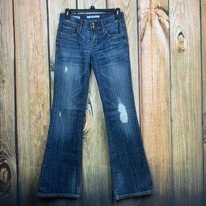 Vigoss New York Flare Distressed Denim Jeans 26